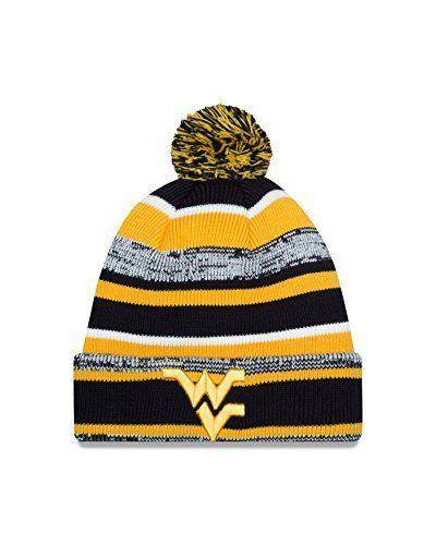 9ceed81471a958 WVU Mountaineers College Sport Knit Pom winter hat by New Era