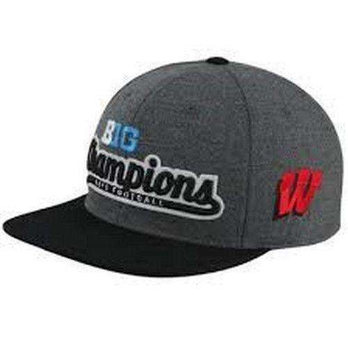 Wisconsin Badgers Big Ten Football Champions Snapback Hat by Top of the World