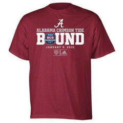 Alabama Crimson Tide 2012 BCS Championship Game Bound t-shirt Adidas new in original packaging BAMA