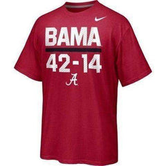 Alabama Crimson Tide 42-14 Final Score t-shirt by Nike