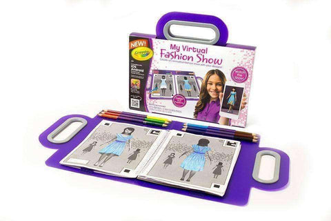 Crayola My Virtual Fashion Show NIB Fashion Sketch Book new in box Draw