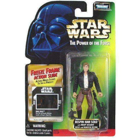 Star Wars Bespin Han Solo with Heavy Assualt Rifle and Blaster Pistol Action Figure by Kenner