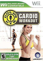 Gold's Gym Cardio Workout Nintendo Wii Game NIB Ubisoft NIP Gold's Gym Cardio Workout Wii Video Game Ubisoft