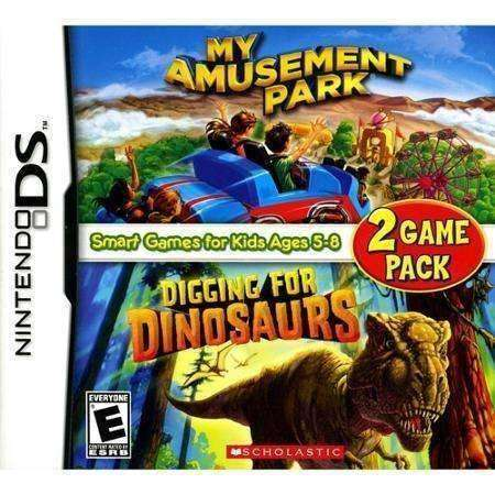 My Amusement Park & Digging for Dinosaurs Nintendo DS Video Game NIB Scholastic NIP