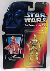 Star Wars C-3PO with Metalized Body The Power of the Force Action Figure NIB