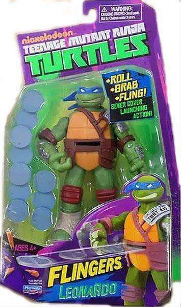 Teenage Mutant Ninja Turtles Flingers Leonardo Action Figure NIB Playmates Nickelodean TMNT NIP