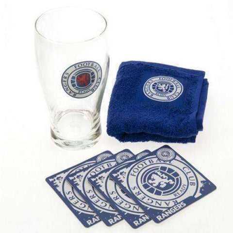 Rangers FC Scotland mini bar set new Scottish Premier Leauge Rangers pint glass