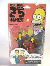 Tom Hanks & Hugh Hefner mini figures 25 of the Greatest Guest Stars Action Figure NIB NECA