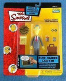 The Simpsons Blue Haired Lawyer World of Springfield Action Figure Playmates New in Package