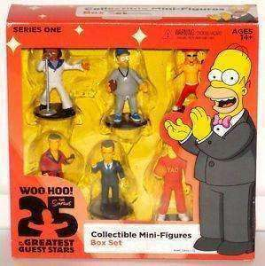 The Simpsons Collectible Mini Figures Box Set 25 Greatest Guest Stars Series 1 Action Figure