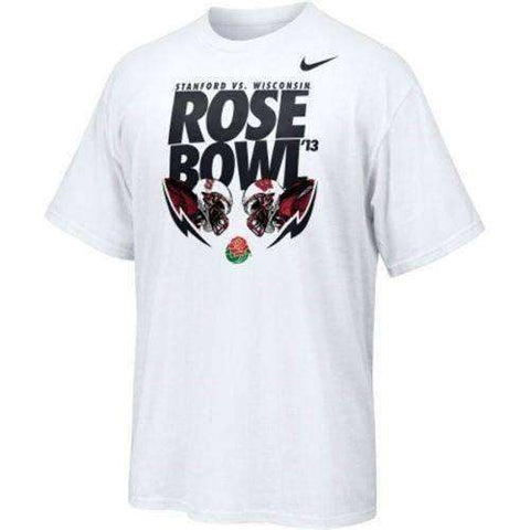 Rose Bowl 2013 Stanford Cardinal vs Wisconsin Badgers t-shirt by Nike