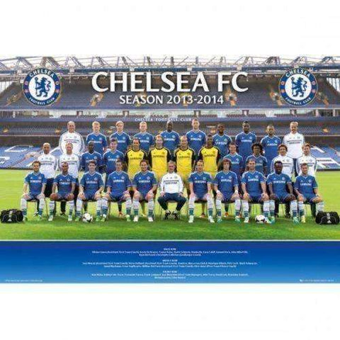 Chelsea FC 2013-2014 Team Squad Poster English Premier League new Blues Soccer