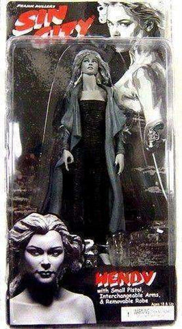 Sin City Black And White Wendy with Small Pistol, Interchangeable Arms, & Removable Robe Action Figure by NECA