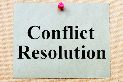 Conflict Resolution Through High-Level Negotiation
