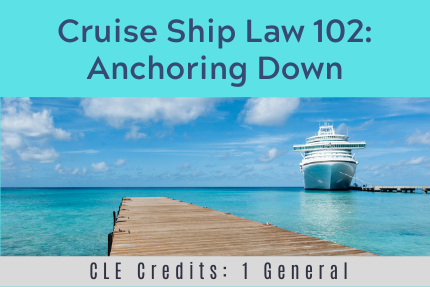 Cruise Ship Law 102: Anchoring Down