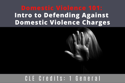 Domestic Violence 101: Intro to Defending Against Domestic Violence Charges