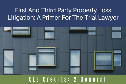 First And Third Party Property Loss Litigation: A Primer For The Trial Lawyer