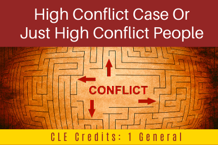 High Conflict Case Or Just High Conflict People