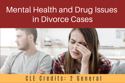 Mental Health and Drug Issues in Divorce Cases
