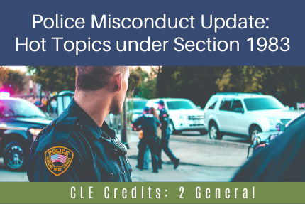 Police Misconduct Update: Hot Topics under Section 1983
