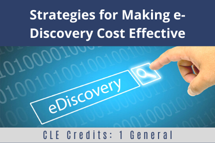 Strategies for Making e-Discovery Cost Effective