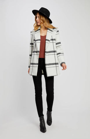 Austin Plaid Cardigan with Fringe
