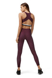 Three Fold Burgundy Leggings