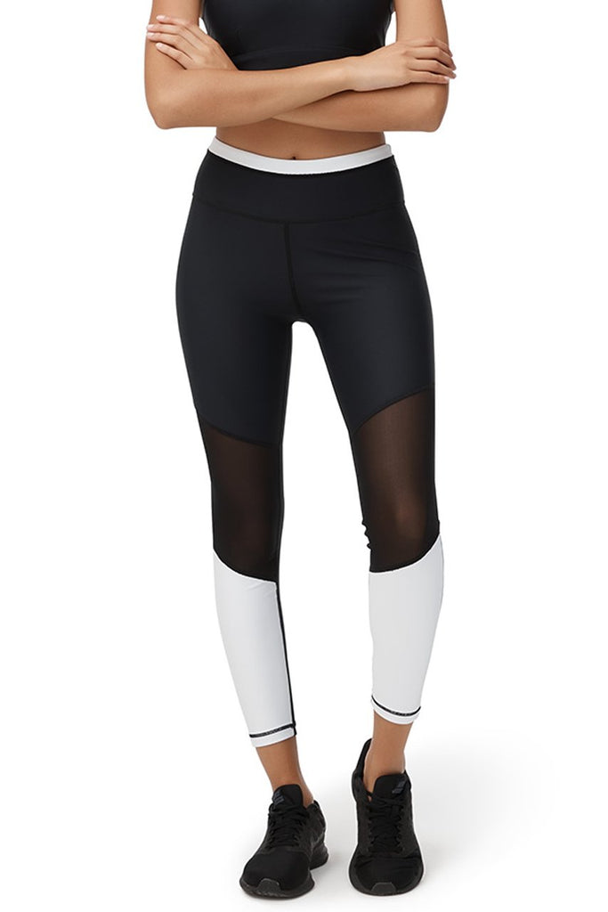 Monochrome Mesh Leggings