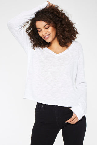 Amelie Cozy Mockneck in Heather Grey