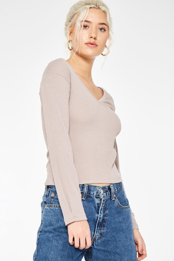 Tilbury Ribbed Long Sleeve in Putty