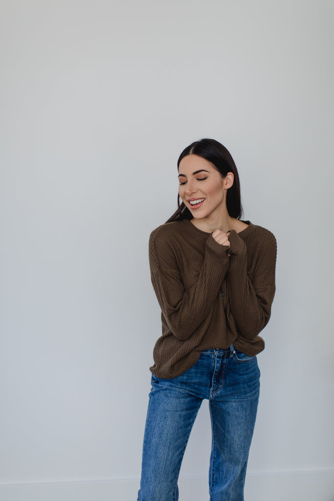 About it Cozy Thermal- Muddled Olive