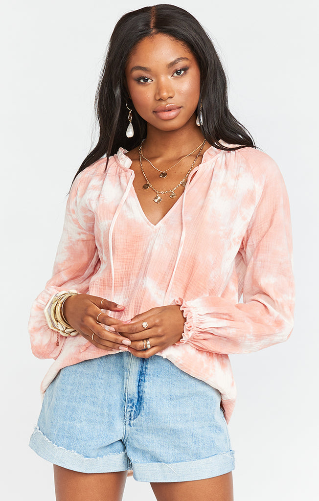 Show Me Your Mumu Charlene Tunic Twisted Tie Dye Pink