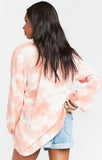 Charlene Tunic Twisted Tie Dye Pink