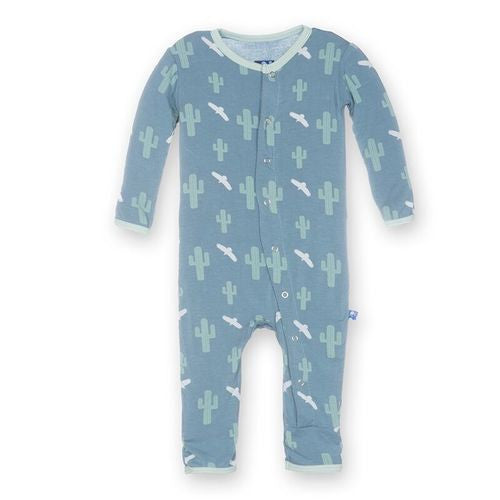 Print Footless Coverall in Dusty Sky Cactus