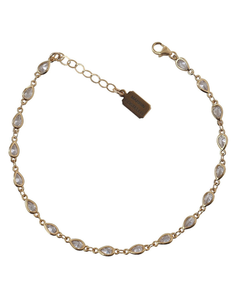 Marrin Costello Drip Anklet - Gold