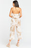 Estelle Jumpsuit Twisted Tie Dye Tan