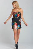 Sabine Slip Dress in Midnight Fiesta Burnout Floral