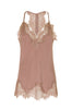Silk Lace Racerback Cami in Rose Taupe