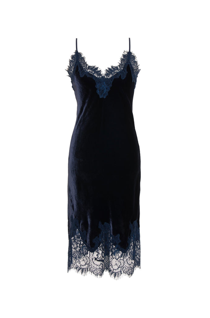 PRIM EXCLUSIVE: Velvet Coco Dress in Navy