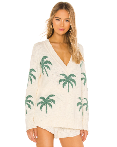 Show Me Your Mumu Gilligan Sweater- Palm Tree Knit