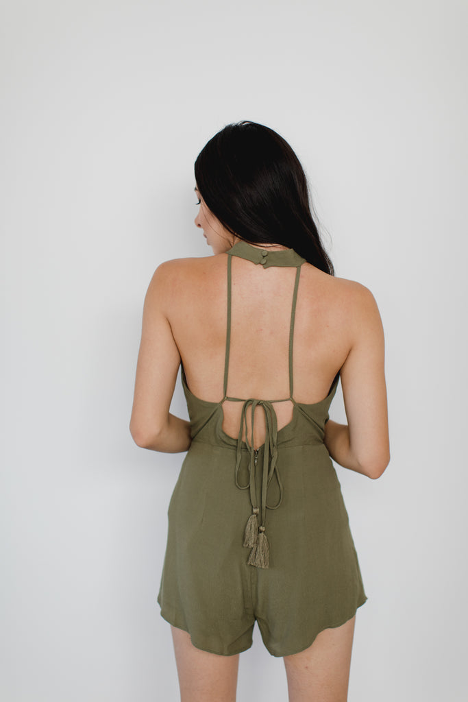 Emily Backless Romper