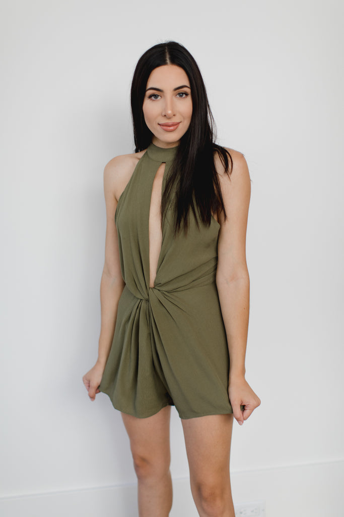 Honey Punch Emily Backless Romper