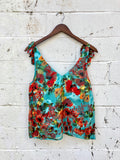 Willow & Clay Francine Floral Burnout Tank
