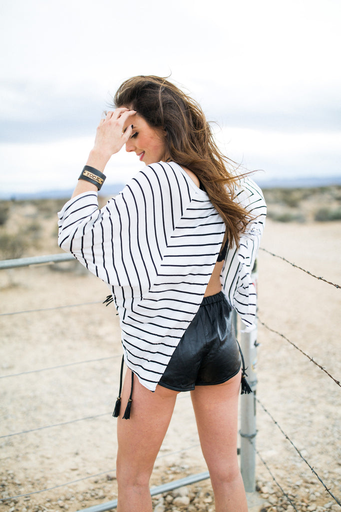 Striped Open-Back Top