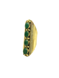 Shield Ring in Emerald