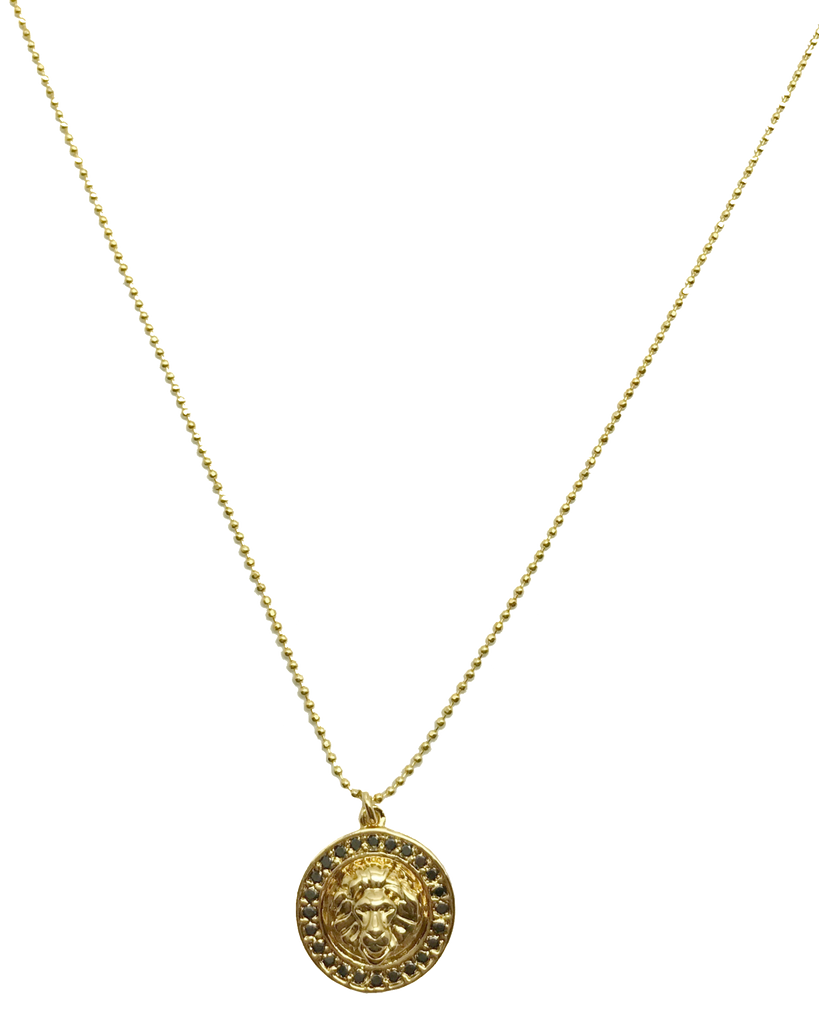 Lioness Pendant in Gold