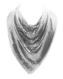 Mesh Scarf in Silver