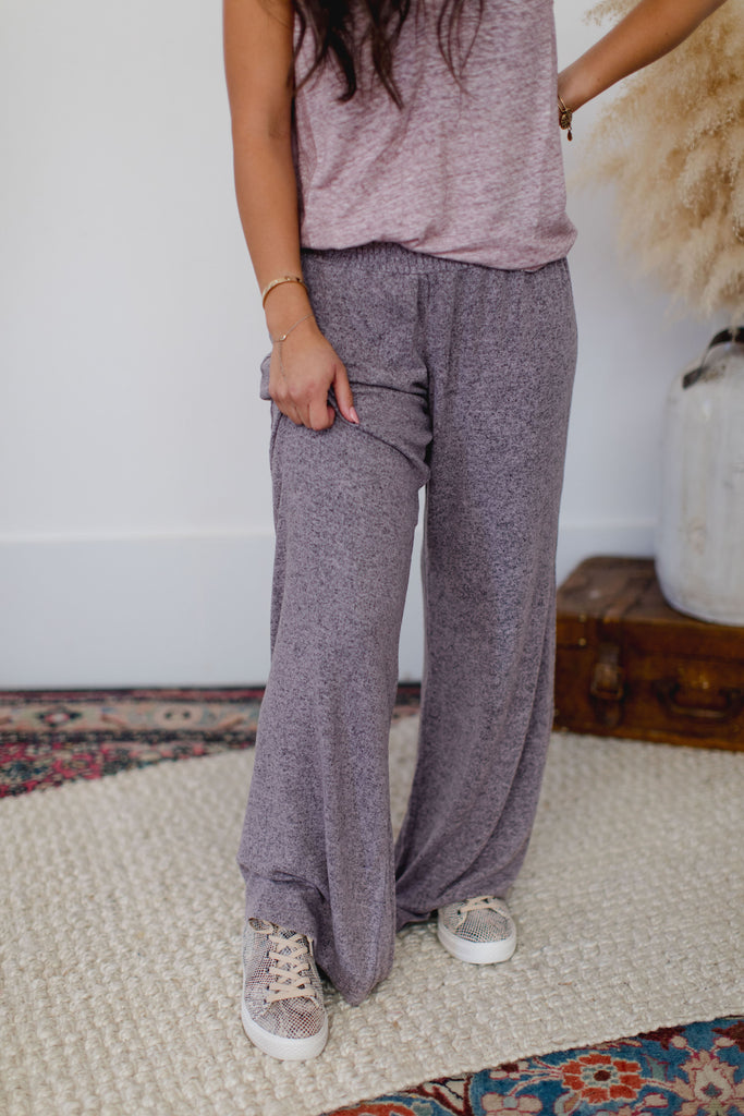 On the Road Sydney Wide Leg Pant Lilac