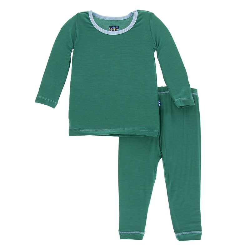 Long Sleeve Pajama Set in Shady Glade with Pond