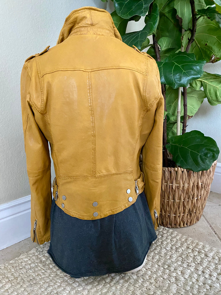 Wild Moto Lambskin Leather Jacket - Sunrise